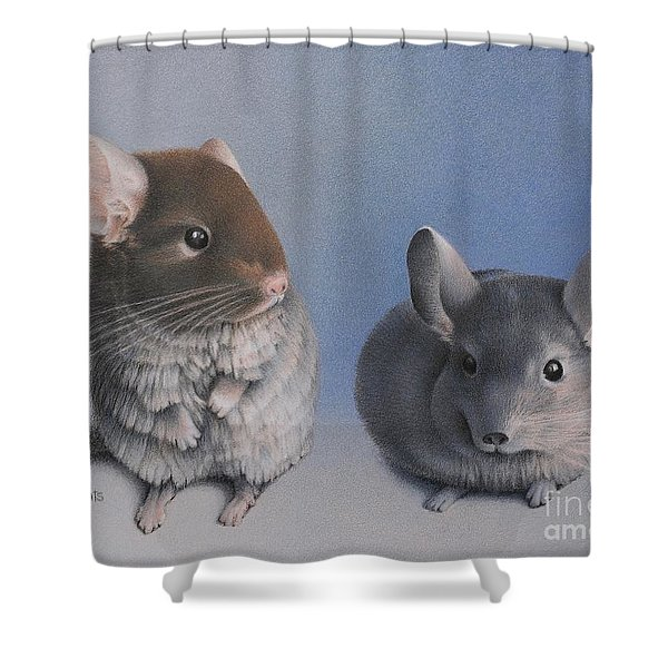Chins Up Shower Curtain