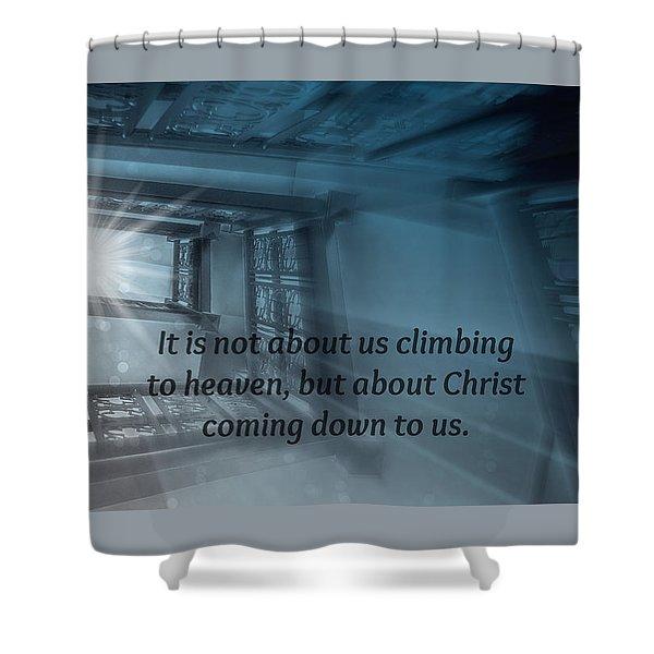 Christ Alone Shower Curtain