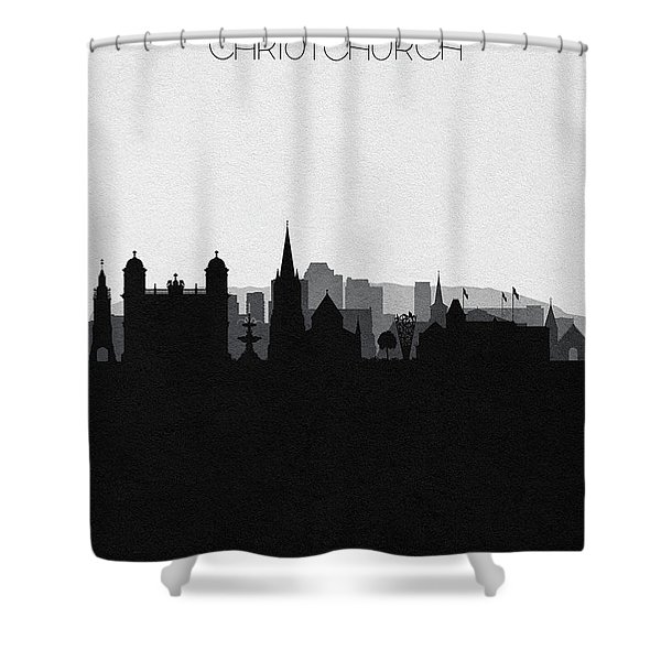 Christchurch Cityscape Art Shower Curtain