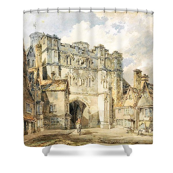 Christian Church Gate, Canterbury - Digital Remastered Edition Shower Curtain
