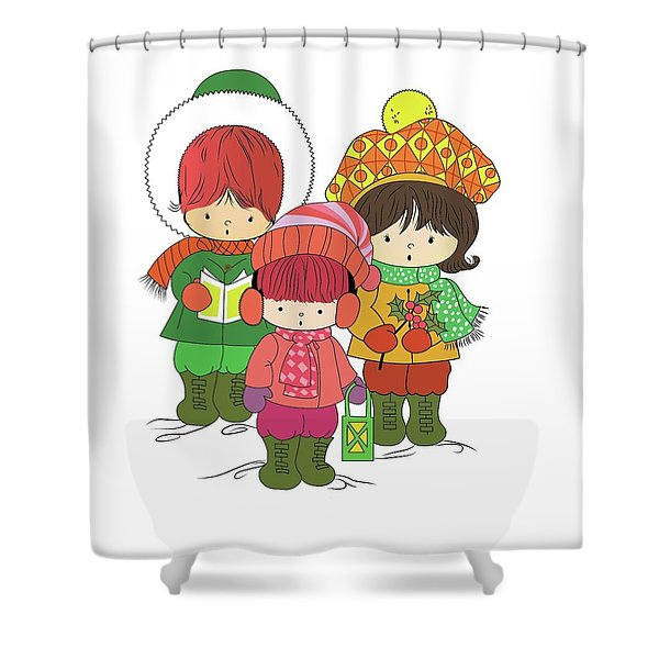 Christmas Angels Shower Curtain