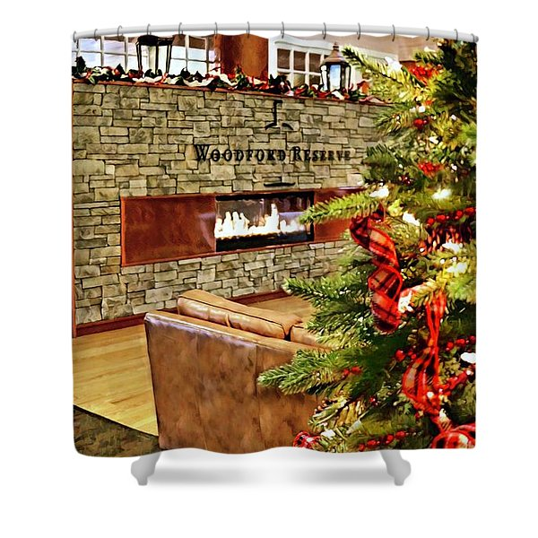 Christmas At Woodford Reserve Shower Curtain