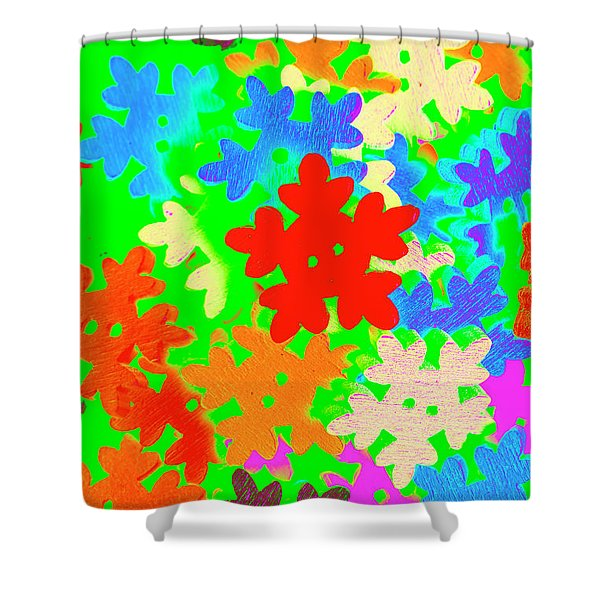 Christmas Crafting Shower Curtain