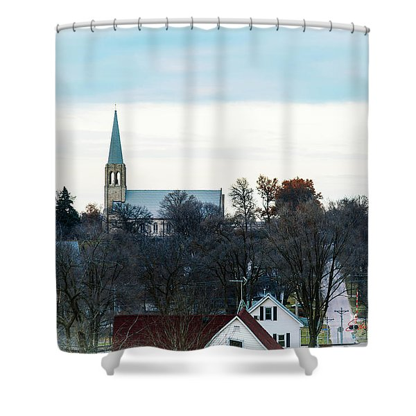 Christmas Day Drive Shower Curtain