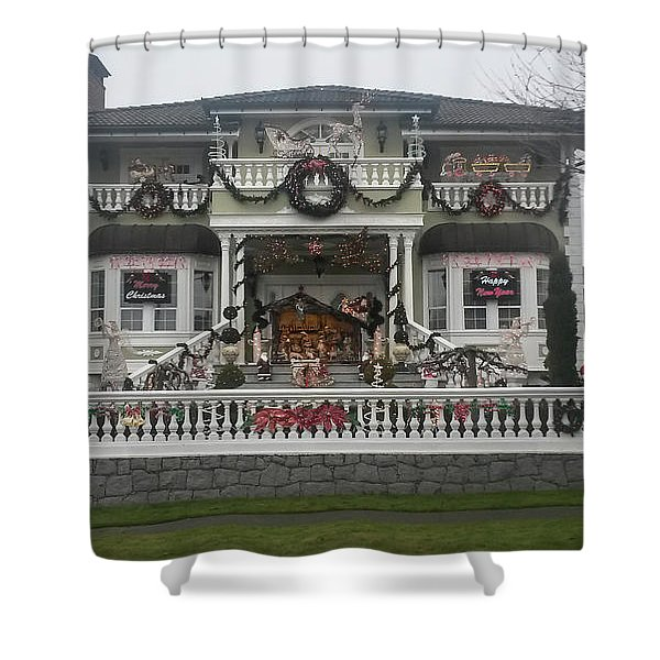 Shower Curtain featuring the photograph Christmas Decoration by Juan Contreras