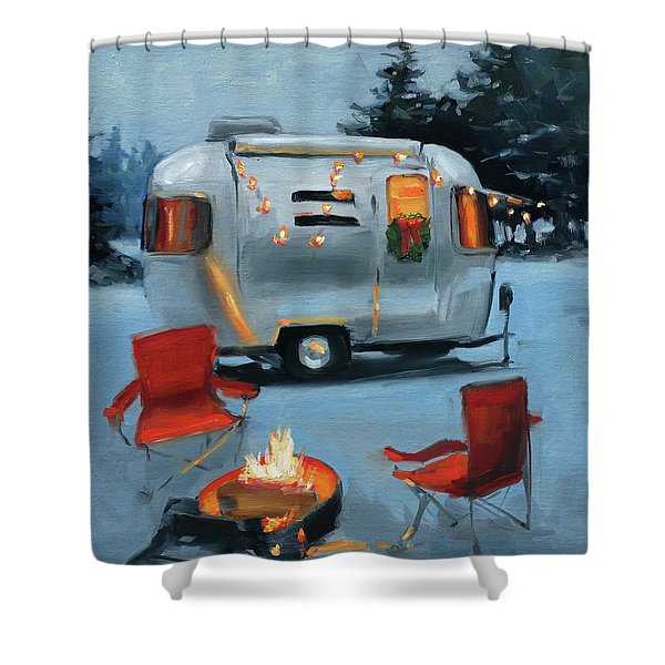 Christmas In The Snow Shower Curtain