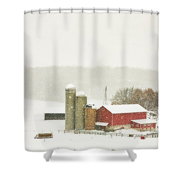 Christmas Valley Shower Curtain