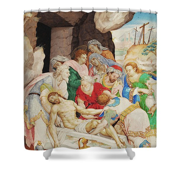 Christ's Burial Shower Curtain