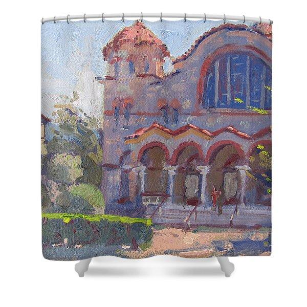 Church At Nea Erythraia Athens Shower Curtain