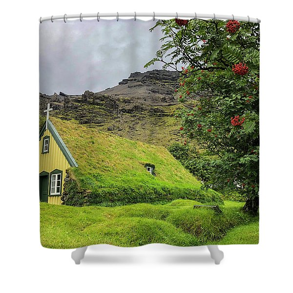Church Of The Holy Moss Shower Curtain