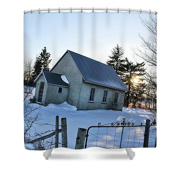 Church On Brewer Road Shower Curtain