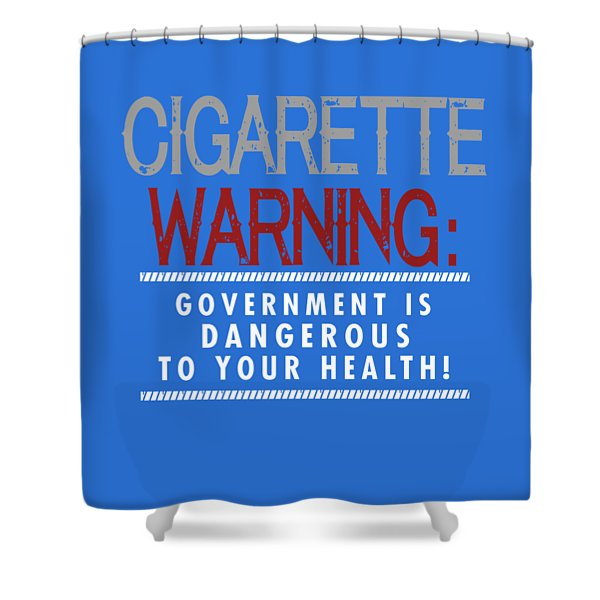 Cigarette Warning Shower Curtain