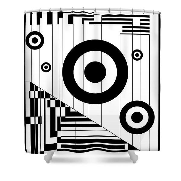 Circular Circles  Shower Curtain