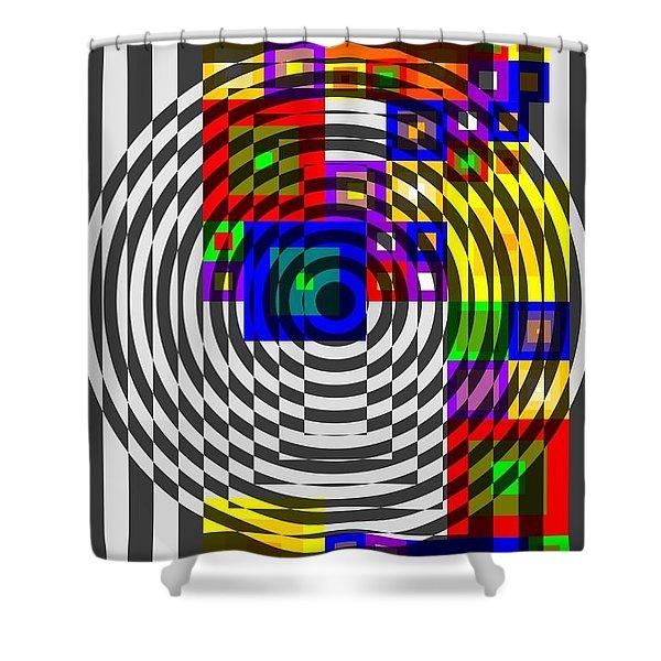 Circular Colour Fusion  Shower Curtain