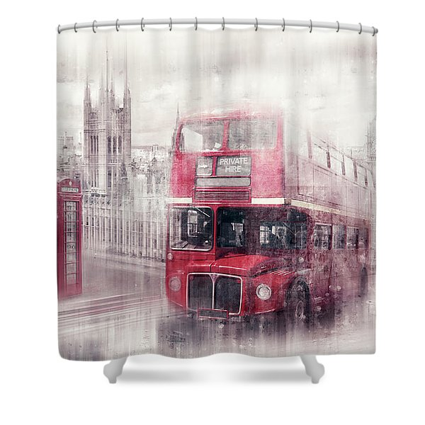 City-art London Westminster Collage II Shower Curtain