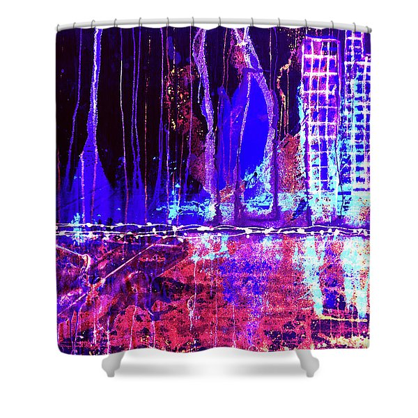 City By The Sea L Shower Curtain