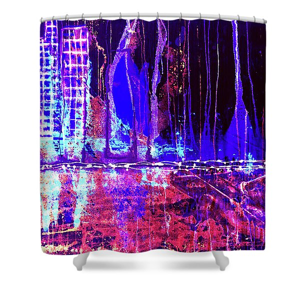 City By The Sea Right Shower Curtain