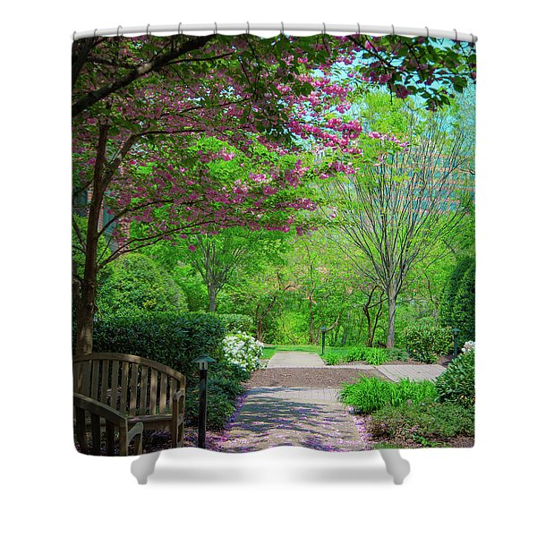 City Oasis Shower Curtain