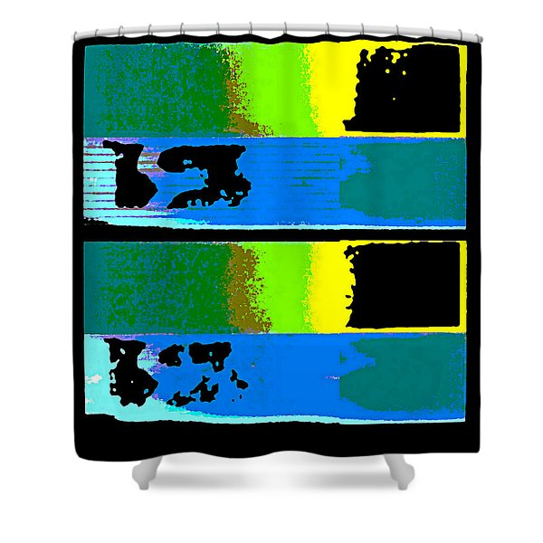 Cityscaper 4000 Original Fine Art Painting Digital Abstract Triptych Shower Curtain