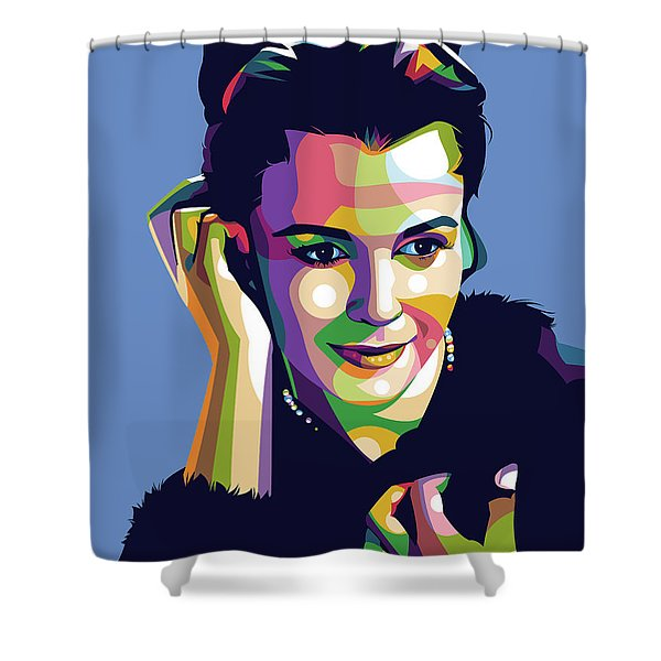 Claire Bloom Shower Curtain