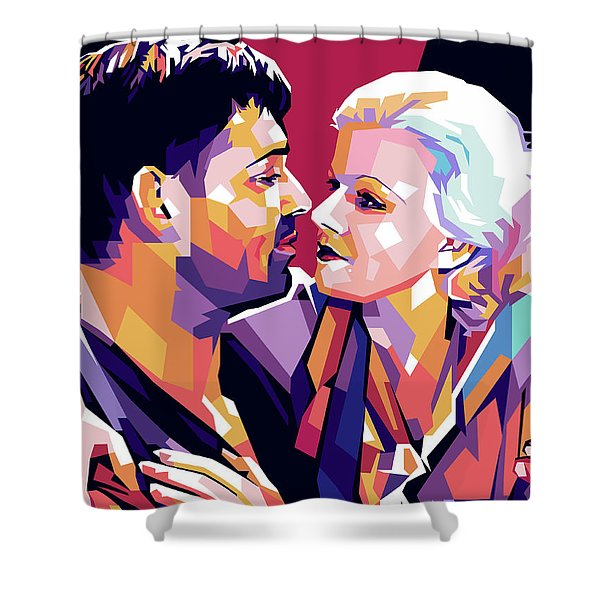 Clark Gable And Jean Harlow Shower Curtain
