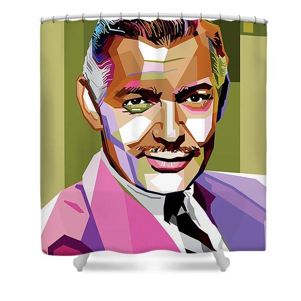 Clark Gable Shower Curtain