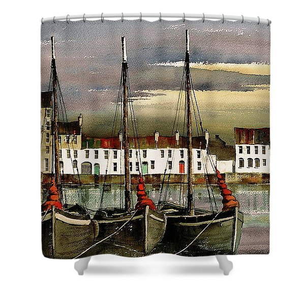 Cladagh Sunset, Galway. Shower Curtain