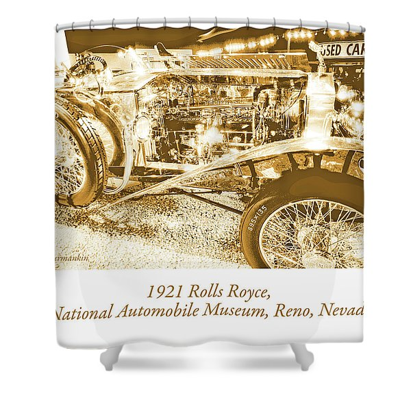 Classic Automobile, 1921 Rolls Royce, National Automobile Museum, Reno, Nevada, Usa Shower Curtain