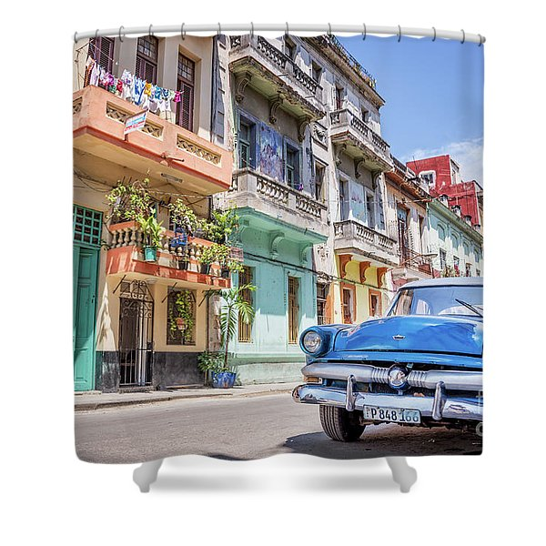 Classic Car In Havana, Cuba Shower Curtain