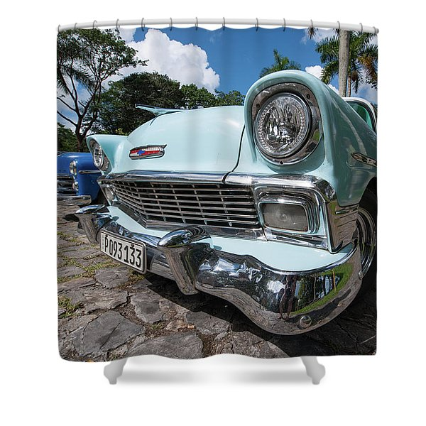 Classic Cuban Chevy Shower Curtain