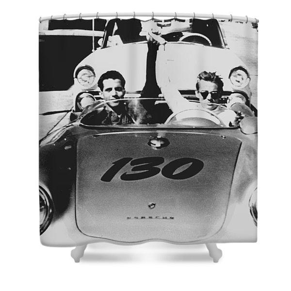 Classic James Dean Porsche Photo Shower Curtain