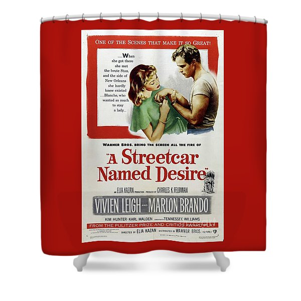 Classic Movie Poster - A Streetcar Named Desire Shower Curtain