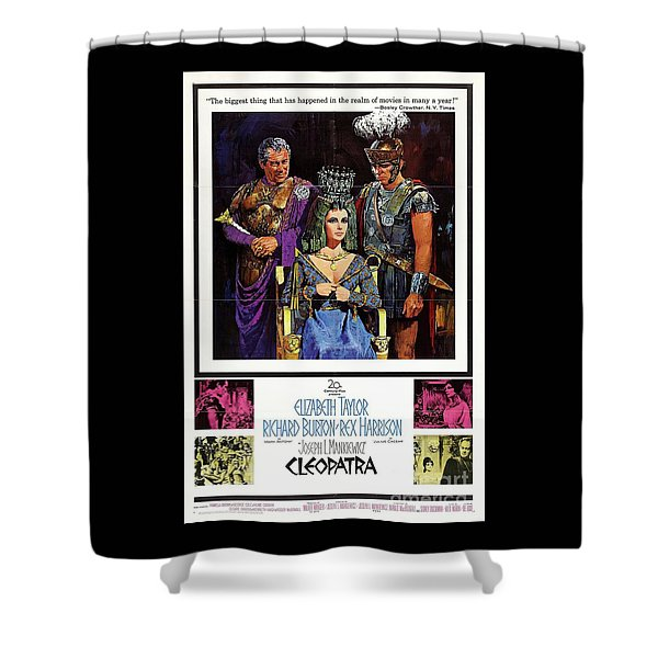 Classic Movie Poster - Cleopatra Shower Curtain
