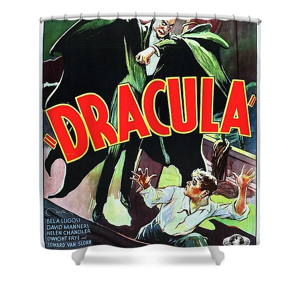 Classic Movie Poster - Dracula Shower Curtain