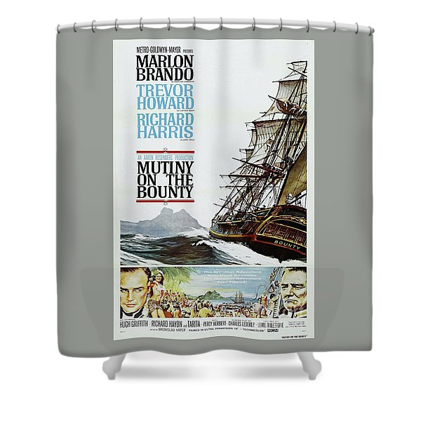 Classic Movie Poster - Mutiny On The Bounty Shower Curtain
