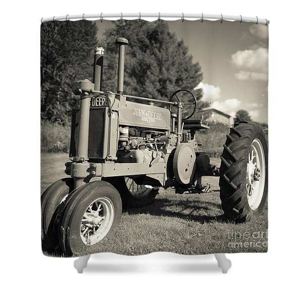 Classic Old Tractor Stowe Vermont Square Shower Curtain