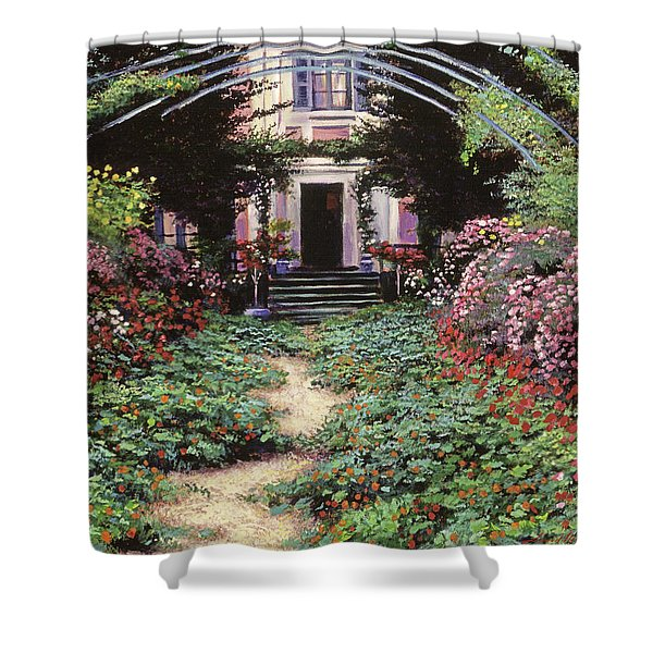 Claude Monet's Garden Path Shower Curtain