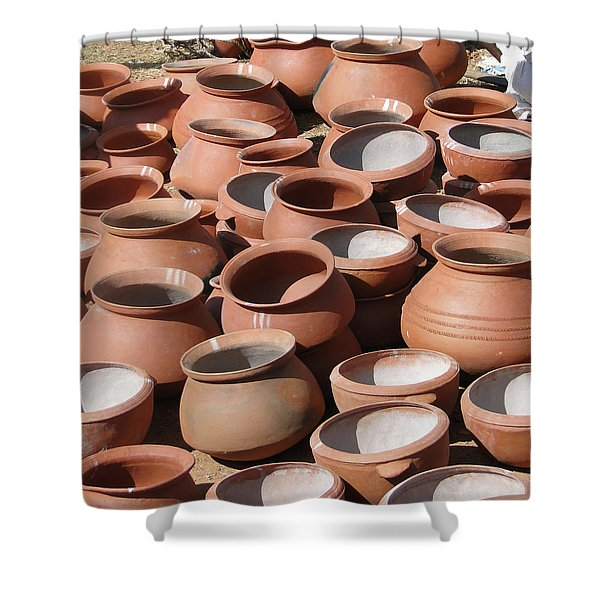 Clay Pots  For Sale In Chatikona  Shower Curtain