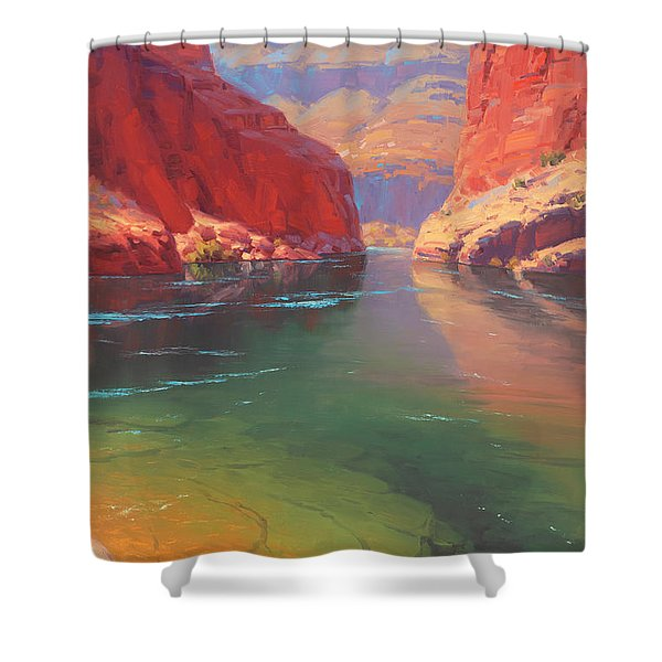Clear Currents Shower Curtain