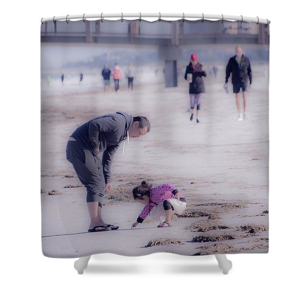 Clearwater Beachcombing Shower Curtain