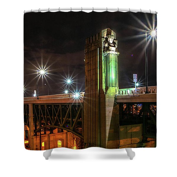 Cleveland Lights  Shower Curtain