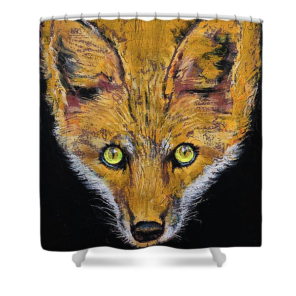 Clever Fox Shower Curtain