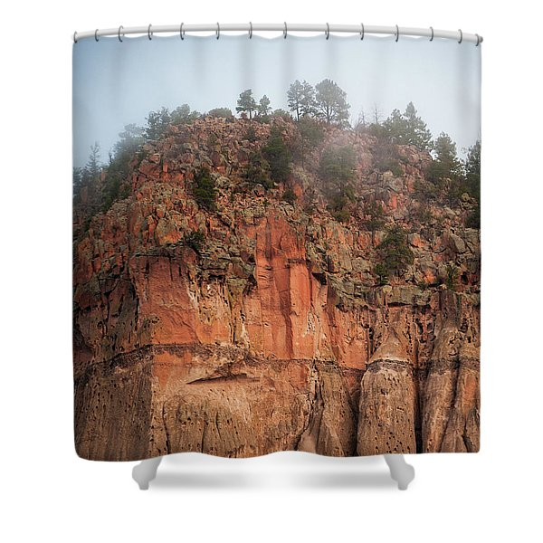 Cliff Face Hz Shower Curtain