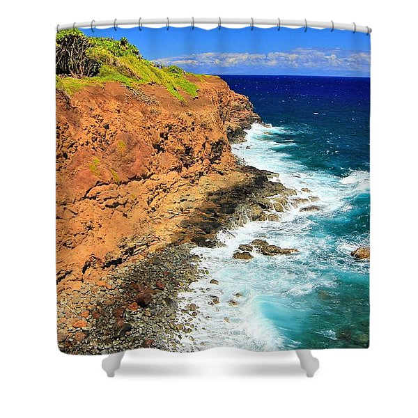 Cliff On Pacific Ocean Shower Curtain