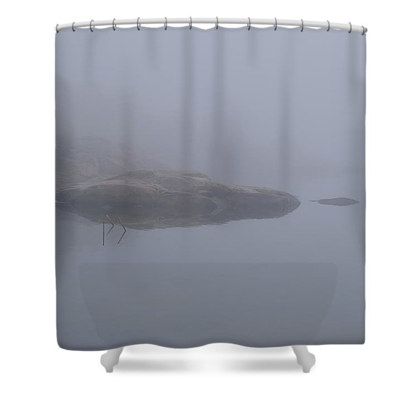 Cliffs In Fog Shower Curtain