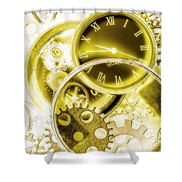 Clock Watches Shower Curtain