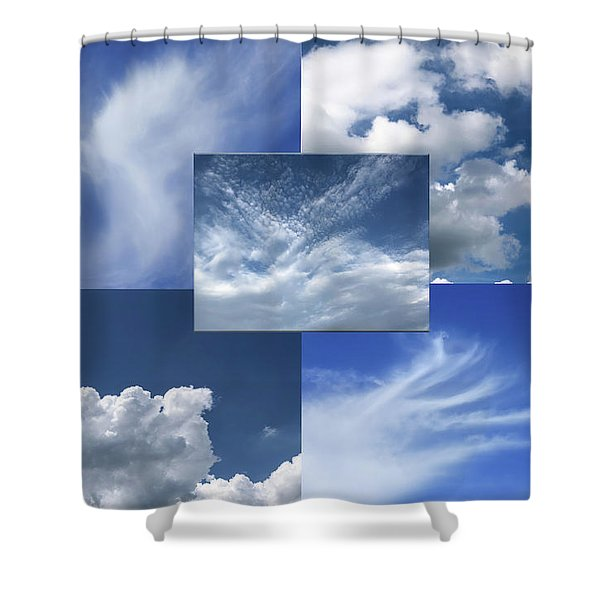Cloud Collage Two Shower Curtain