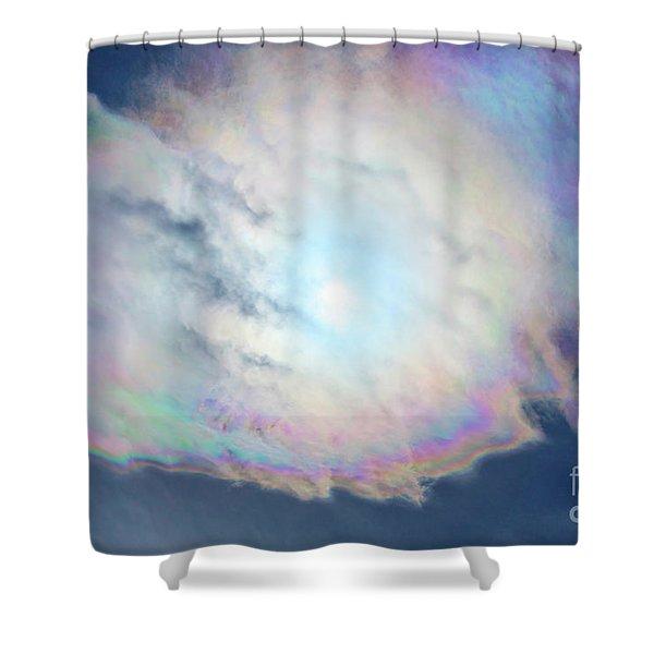 Cloud Iridescence Shower Curtain