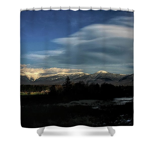 Shower Curtain featuring the photograph Cloud Lens Over The Presidential Range by Wayne King