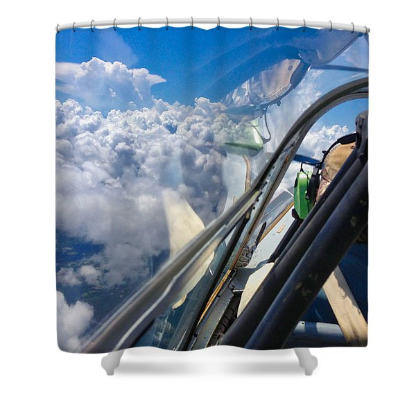 Shower Curtain featuring the photograph Cloud Surfing by Tom Gresham